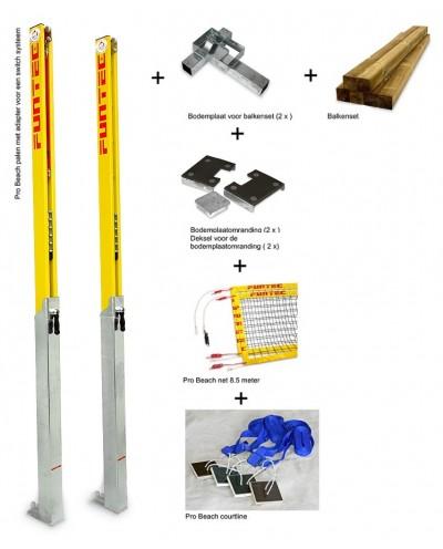 Funtec pakket Pro Beach (Switch systeem met houten balken)