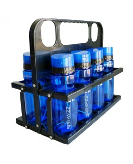 8x Sprayzz blauw + Sprayzz houder
